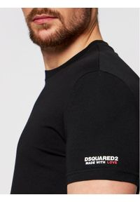 Dsquared2 Underwear T-Shirt D9M203520 Czarny Regular Fit. Kolor: czarny
