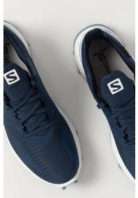 Niebieskie buty trekkingowe salomon Gore-Tex, na sznurówki