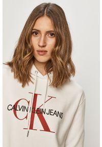 Biała bluza Calvin Klein Jeans casualowa, długa