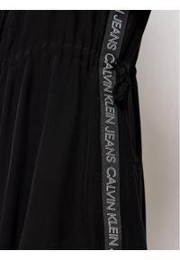 Czarna sukienka Calvin Klein Jeans koszulowa