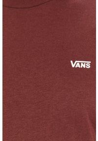 Vans - T-shirt. Okazja: na co dzień. Kolor: czerwony. Materiał: dzianina. Styl: casual