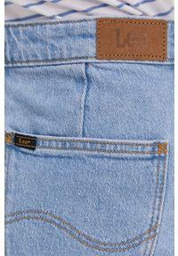 Niebieska spódnica Lee w grochy, casualowa, na co dzień