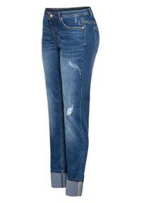 """Dżinsy z wywiniętymi nogawkami bonprix niebieski """"stone"""". Kolor: niebieski"""