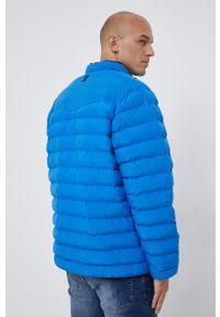 Wrangler - Kurtka. Okazja: na co dzień. Kolor: niebieski. Materiał: materiał. Wzór: gładki. Styl: casual
