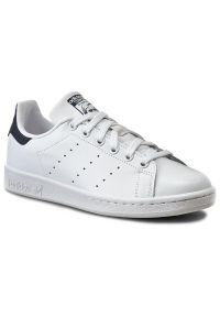 Białe buty sportowe Adidas z paskami, tenisowe