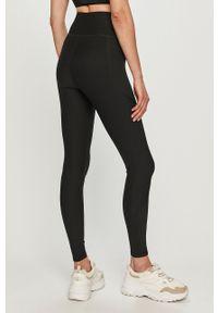 Czarne legginsy Only Play gładkie, z podwyższonym stanem