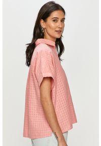 Różowa koszula Levi's® na spotkanie biznesowe, gładkie, krótka, z krótkim rękawem