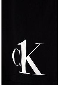 Czarny kombinezon Calvin Klein z nadrukiem, na ramiączkach
