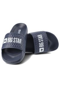Big-Star - Klapki BIG STAR GG374802 Granat. Materiał: materiał. Styl: elegancki