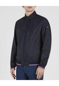 PAUL & SHARK - Granatowa kurtka Newport Bomber. Okazja: na co dzień. Kolor: niebieski. Materiał: jeans. Styl: elegancki, sportowy, casual