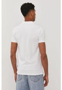 Biała koszulka polo Tom Tailor krótka, gładkie, polo, casualowa