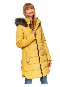 Żółta kurtka TOP SECRET długa