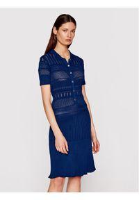 Niebieska sukienka dzianinowa Marciano Guess
