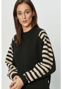 Czarna bluza Brixton z długim rękawem, długa