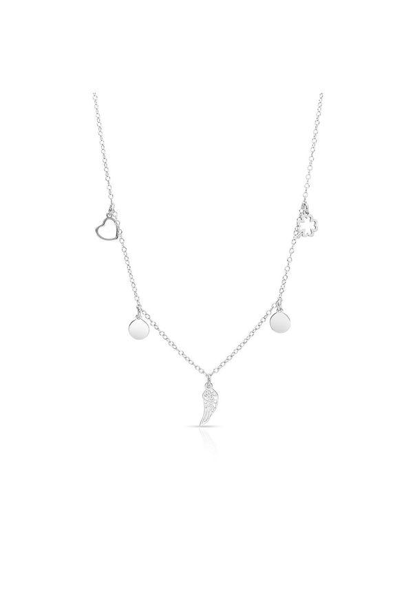 W.KRUK Zjawiskowy Naszyjnik - srebro 925 - SMN/NS159. Materiał: srebrne. Wzór: aplikacja