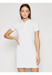 Lacoste Sukienka codzienna EF5473 Biały Slim Fit. Okazja: na co dzień. Kolor: biały. Typ sukienki: proste. Styl: casual