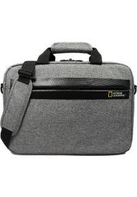 Szara torba na laptopa National Geographic
