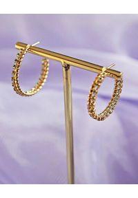 CAROLINE SVEDBOM - Kolczyki z kryształami Kaia. Materiał: złote. Kolor: złoty. Wzór: aplikacja. Kamień szlachetny: kryształ