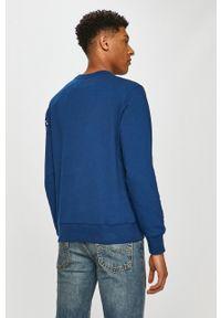 Niebieska bluza nierozpinana Calvin Klein Jeans na co dzień, casualowa, z nadrukiem, bez kaptura