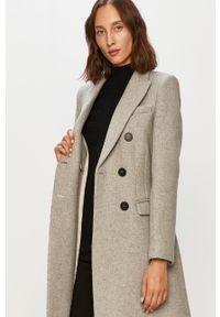 Szary płaszcz Morgan bez kaptura, klasyczny