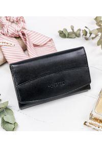 4U CAVALDI - Skórzany portfel damski czarny 4U Cavaldi. Kolor: czarny. Materiał: skóra