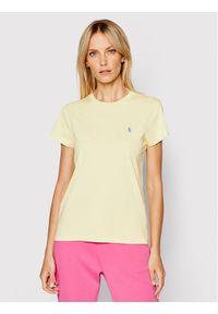 Polo Ralph Lauren T-Shirt Ssl 211734144044 Żółty Regular Fit. Typ kołnierza: polo. Kolor: żółty