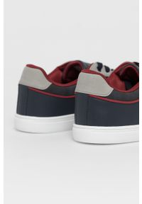 Niebieskie sneakersy U.S. Polo Assn z okrągłym noskiem, na sznurówki