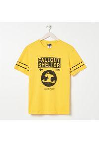 Żółty t-shirt Sinsay