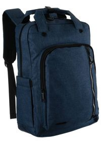 DAVID JONES - Miejski plecak unisex granatowy David Jones PC036 D.BLUE. Kolor: niebieski. Materiał: materiał