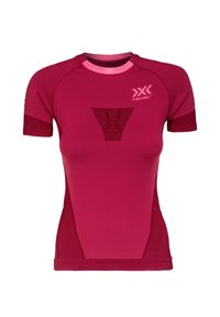 X-Bionic - Koszulka X-BIONIC INVENT 4.0 RUN SPEED. Kolor: różowy. Długość rękawa: krótki rękaw. Długość: długie. Sport: bieganie