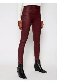 TOMMY HILFIGER - Tommy Hilfiger Jeansy Skinny Fit Soft Harlem WW0WW28824 Bordowy Ultra Skinny Fit. Kolor: czerwony