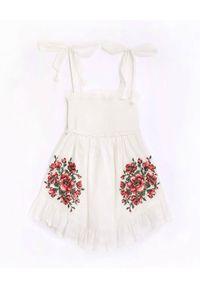 ZIMMERMANN KIDS - Biała sukienka z haftem 0-10 lat. Kolor: biały. Materiał: bawełna. Długość rękawa: na ramiączkach. Wzór: haft. Sezon: lato #3