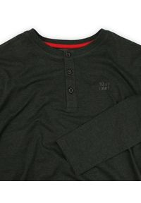 Szary t-shirt Just Yuppi casualowy, na co dzień, z długim rękawem, długi