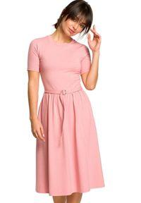 Sukienka z krótkim rękawem, dopasowana