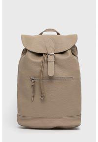 Answear Lab - Plecak skórzany. Kolor: beżowy. Materiał: skóra. Styl: wakacyjny