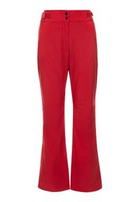 Czerwone spodnie sportowe Eider narciarskie