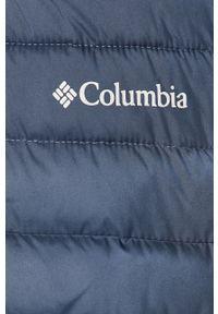 Niebieska kurtka columbia z kapturem