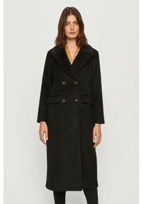 Czarny płaszcz Pepe Jeans bez kaptura, klasyczny, na co dzień