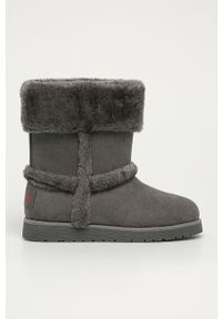 Szare buty zimowe Levi's® biznesowe, z cholewką