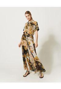 Wielokolorowa sukienka TwinSet z nadrukiem, maxi