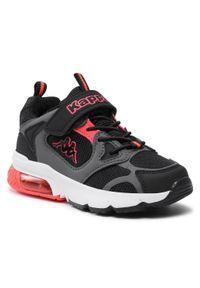 Kappa - Sneakersy KAPPA - Yero K 260891K Black/Coral. Okazja: na spacer, na co dzień. Zapięcie: rzepy. Kolor: czarny. Materiał: skóra ekologiczna, skóra, materiał. Szerokość cholewki: normalna. Styl: casual