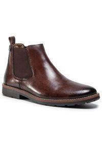 Brązowe buty zimowe Rieker z cholewką, klasyczne