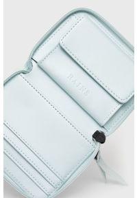 Rains - Portfel 1627 Small Wallet. Kolor: niebieski. Materiał: materiał. Wzór: gładki