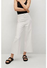Białe jeansy loose fit mango gładkie