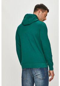Zielona bluza nierozpinana TOMMY HILFIGER z aplikacjami, casualowa