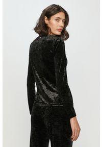 Czarna bluzka DKNY casualowa, na co dzień, gładkie, długa