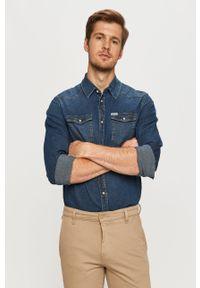 Niebieska koszula Guess Jeans z klasycznym kołnierzykiem, casualowa