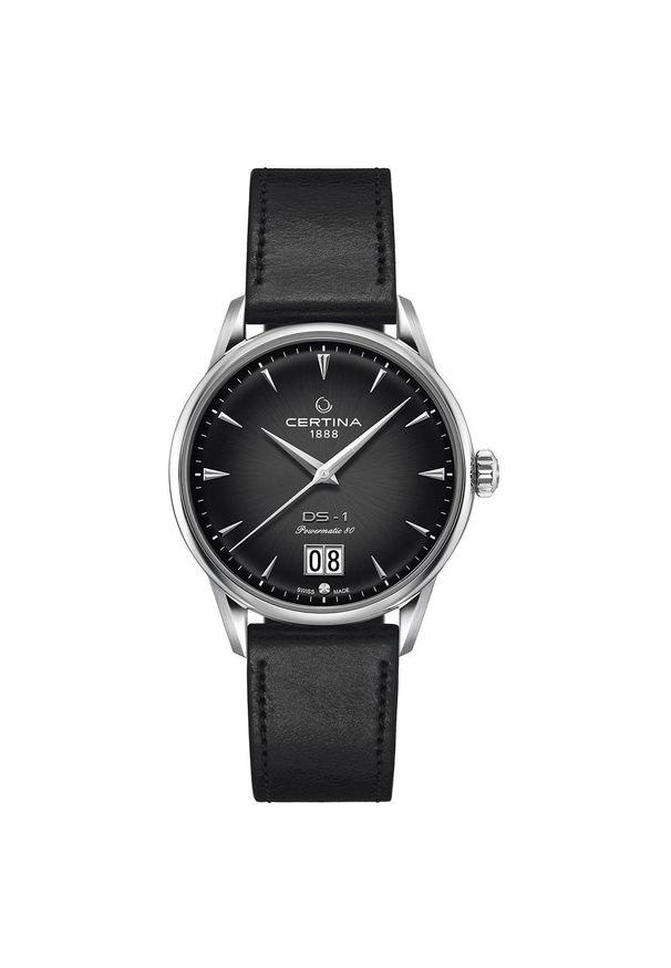 Czarny zegarek CERTINA sportowy, analogowy