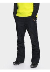 Niebieskie spodnie snowboardowe 4f na zimę, snowboardowe