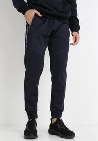 Born2be - Granatowe Spodnie Callamia. Kolor: niebieski. Materiał: dresówka, dzianina, guma